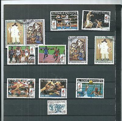 Sao. Tome & Principe.  Selection Of 12. Cancelled To Order.  As Per Scan