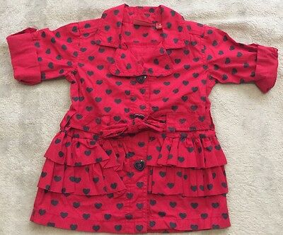 SPROUT/MYER red w/ Hearts Trench Coat Size 0 EUC. 10 Items = $5 Post