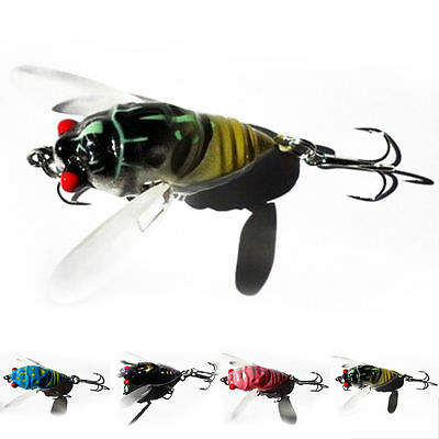 1pc Cicada Bass Insect Fishing Lures 4cm Crank Bait Floating Tackle Spory Hot