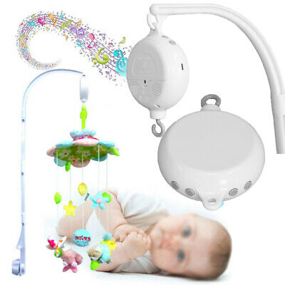 Nursery 35 Songs Rotary Baby Mobile Crib Bed Toy Music Box Movement Bell For Kid