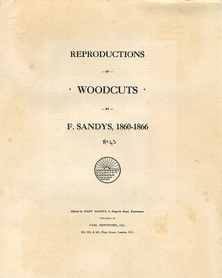 Folio of Reproductions of Pre-Raphaelite Woodcuts by F. Sandys, 1860-1866