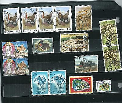 Zambia-Ghana.  Selection Of16. Fine Used.  As Per Scan