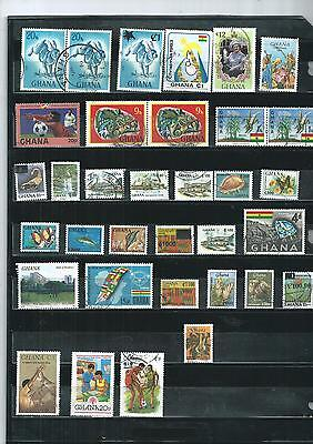 Ghana.  Selection Of 34. Very Fine Used.  As Per Scan