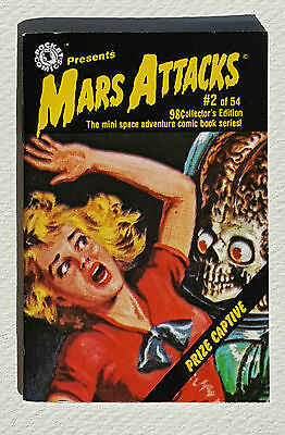 MARS ATTACKS Pocket Comics #2 Mini Space Adventure Comic Book Series 1988 Topps