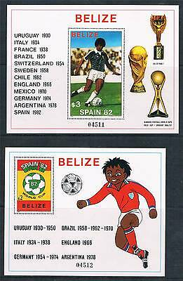 Belize 1981 World Cup Football 2xMS SG 670 MNH