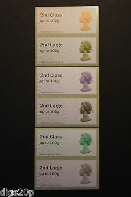 NCR - 2nd Class on 50th Machin Anniv Error Post & Go - Set of 3 Collectors Pairs