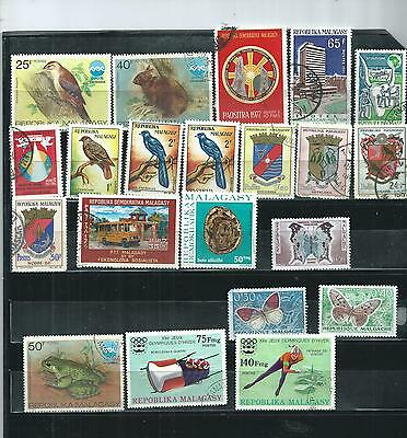 Malagasy.  Selection Of 21. Cancelled To Order.  As Per Scan