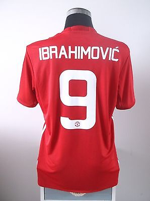 IBRAHIMOVIC #9 BNWT Manchester United Home Cup Football Shirt Jersey 2016/17 (L)