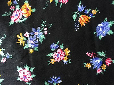 Vintage Fabric-Unused-Floral-Over 3 1/2 Meters