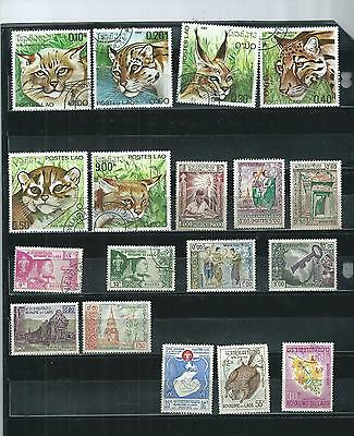 Laos. 1959-1981. Selection Of 18 . Very Fine Used.  As Per Scan