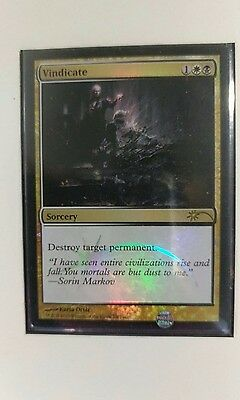 MTG Magic the Gathering - Vindicate - NM - Judge Foil 2013