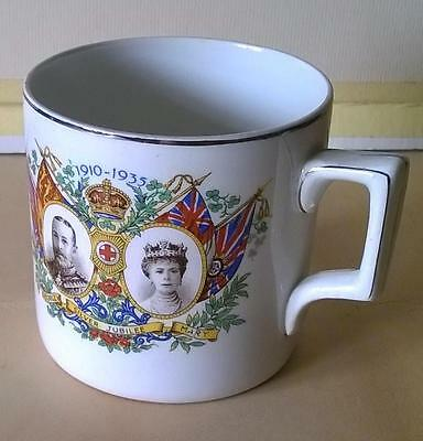 George V - Queen Mary - Silver Jubilee 1910-1935 - Falcon Ware Cup - Collectible