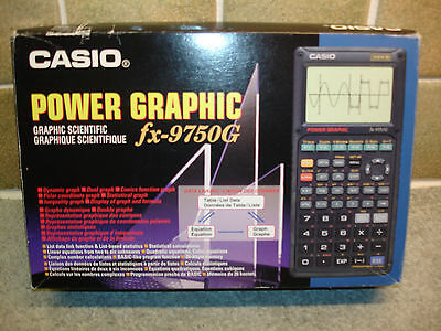 Casio Power Graphic FX-9750G Scientific Calculator Boxed with Instruction Manual