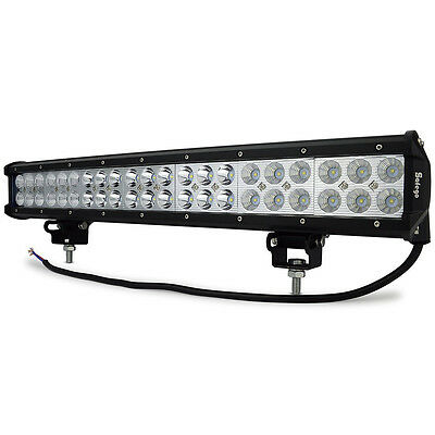 Safego 20inch 126W Cree Led Light Bar Flood Spot Combo Offroad Truck ATV Tractor