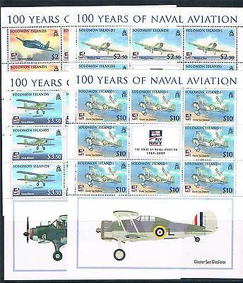 Solomon Is 2009 Fly Navy 4v COMPLETE SHEETS SG 1269/72 MNH