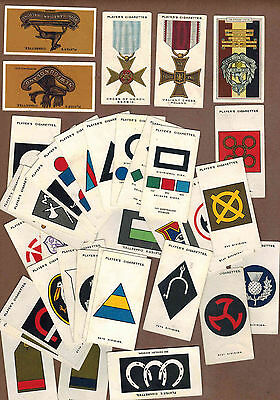 MILITARY: Collection of 37 Scarce British PLAYER'S Tobacco Cards (1929)