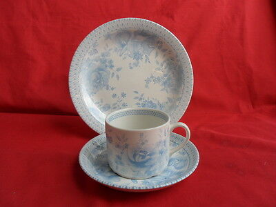 WADE, Chintz Blue, 6 x Trios ( 6 x Cups, Saucers & Plates)