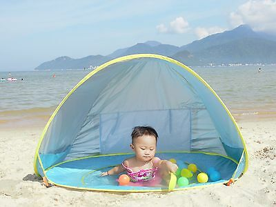 Portable Infant Baby Beach Tent Shade with Pool Inside + UV Protect Sun Shelter