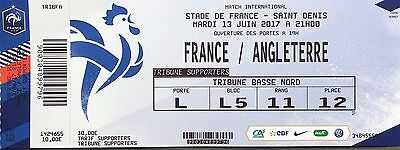 Ticket Foot France Angleterre 2017 Amical England Fff