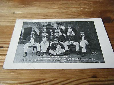 1908 Original Postcard -  The  Oxford  Rowing Crew  With  Names Underneath