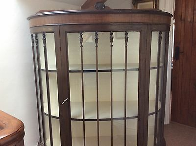 Art Deco Bow Fronted Display Cabinet
