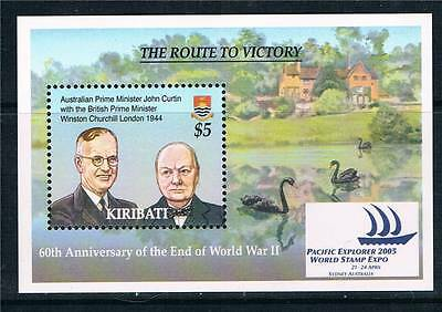 Kiribati 2005 Route to Victory MS SG740 MNH