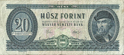HUNGARY 20 FORINT Banknote 1975