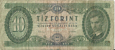 HUNGARY 10 FORINT Banknote 1962