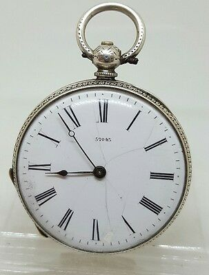 C1900 antique solid silver ladies Barnett Brothers pocket watch