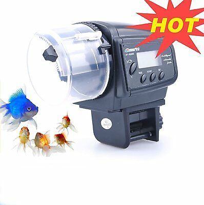 New Aquarium Automatic Feeder Fish Food Tank Timer Safe UK Gift Fast Delivery