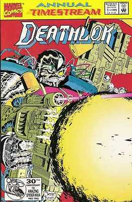 Deathlok (1991 series) Annual #1 in Very Fine + condition. FREE bag/board