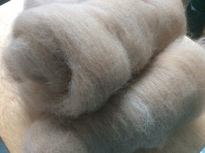 Hand Carded 100% 1st quality Alpaca fleece for spinning, felting, 100g