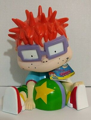 "Rugrats Chuckie with Candy 8"" Plastic Piggy Bank"
