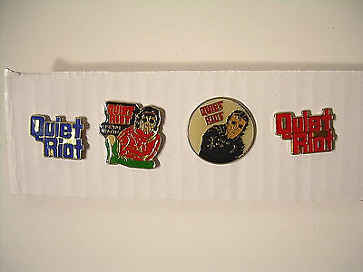 Quiet Riot Vintage Pins from the 80's