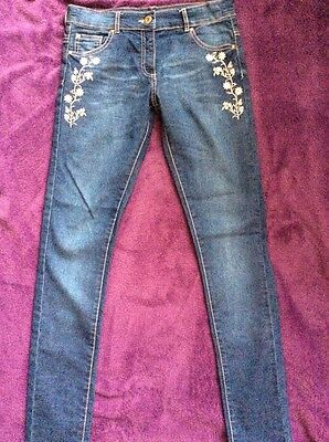 Pretty F&F Embroidered Skinny Jeans,Size 13-14