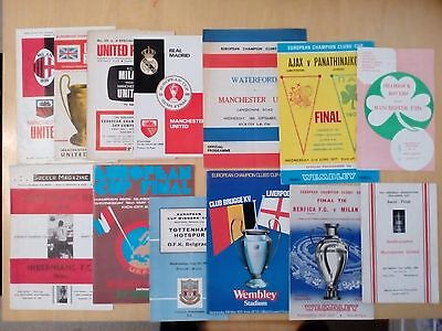 Collection of Programmes - European Final and Semi Finals - Big Match job lot