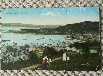 Vintage Scottish Postcard Gourock From Tower Hill 1925