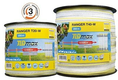 Horizont Electric Fence Tape Ranger T40-W 200 Metres 40Mm