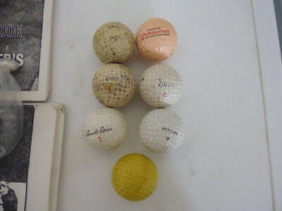7 x Vintage/Antique Golf Balls Dunlop 65 arnold Palmer 1 etc see pictures