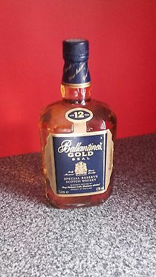Ballantines Gold Seal 1l Whisky 1980s
