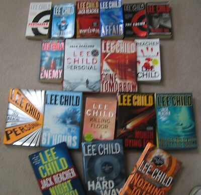 lot:15 LEE CHILD books (mixed lot)