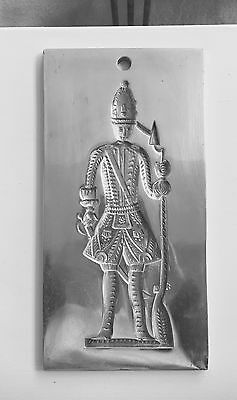 Vtg. Chocolate Cookie Mold Of A Gingerbread Soldier Man Virginia Metalcrafters