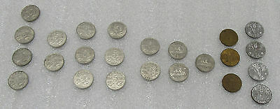 1922-1945 Canada 5 Cents Lot of 24- Canadian Nickels