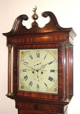Lovely Georgian Mahogany DUBLIN Longcase Grandfather Tallcase clock C1810