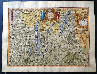 Carta geografica antica LOMBARDIA STATO DI MILANO Magini 1620 Old antique map