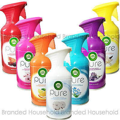 3 Air Wick Airwick Pure Air Freshener Room Spray Fresh Office Home Scent Choose