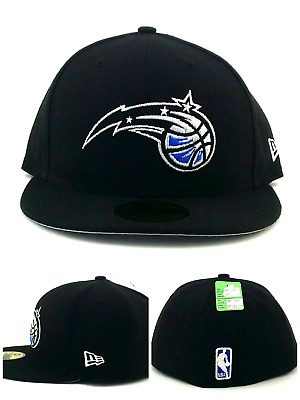 finest selection 4f4ec 4b947 Orlando Magic NBA New Era 59Fifty Black Blue Silver Display Fitted Hat Cap  7 1