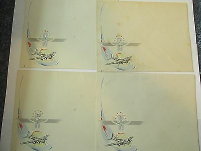 Ww Ii B 17 Flying Fortress Envelopes Curt Teich & Co Chicago 4 Envelopes