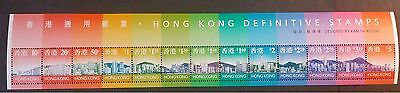 Hong Kong Definitive Scenes 1997 MS864  *unfolded MNH