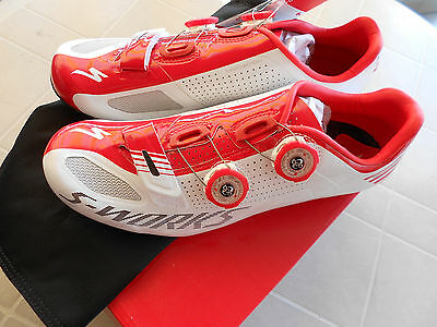 Scarpe Shoes Specialized S Works Road  Taglia 42 White/red